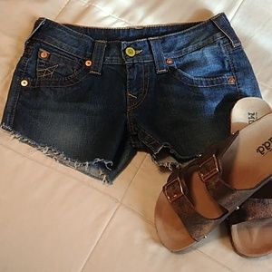 True Religion cutoffs